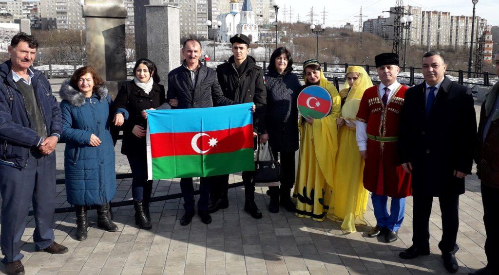 Азербайджанцы проводили новобранцев на Северный флот (ФОТОЛЕНТА)